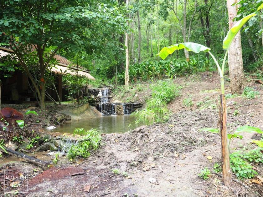 Chiangmai Northern Thailand Buddha Waterfall Wat Pha Lat