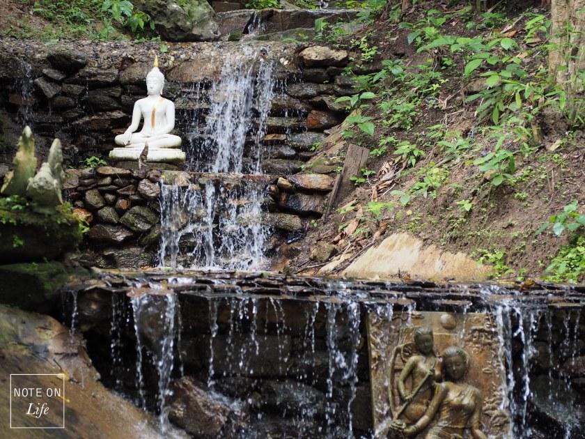 Chiangmai Northern Thailand Wat Pha Lat Waterfall