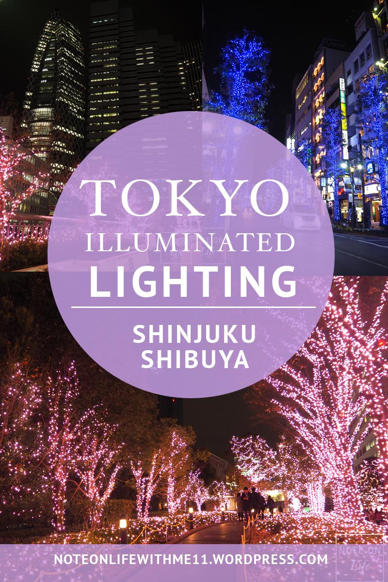 Tokyo Illuminated lighting Christmas Shinjuku Shibuya Japan