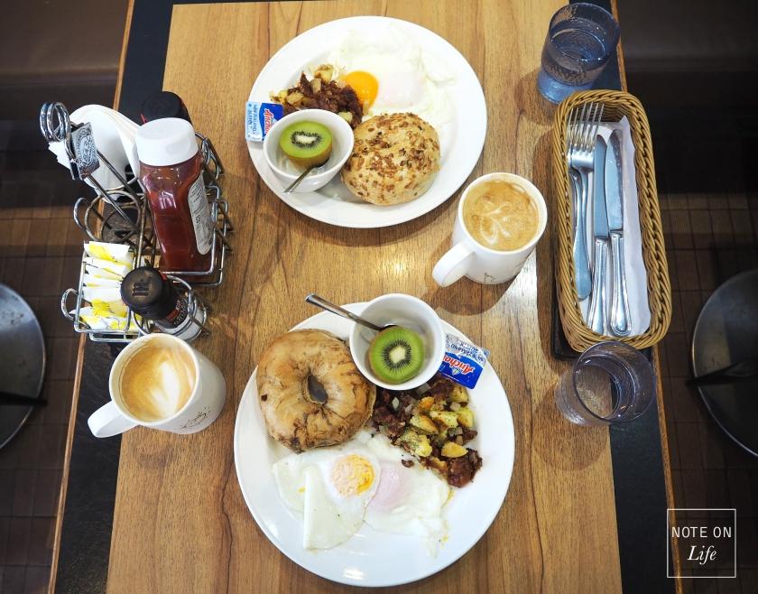 N.Y Bagels Cafe Taiwan Taipei Travel Breakfast