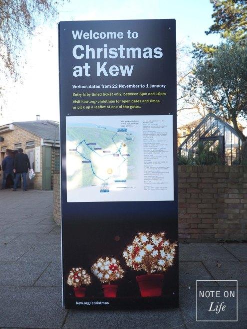 Christmas at KEW - Signage