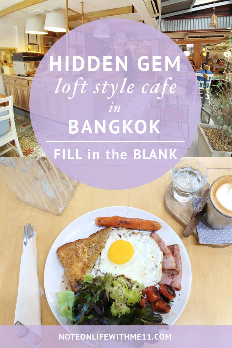 Fill in the Blank Cozy cafe in Bangkok Thailand