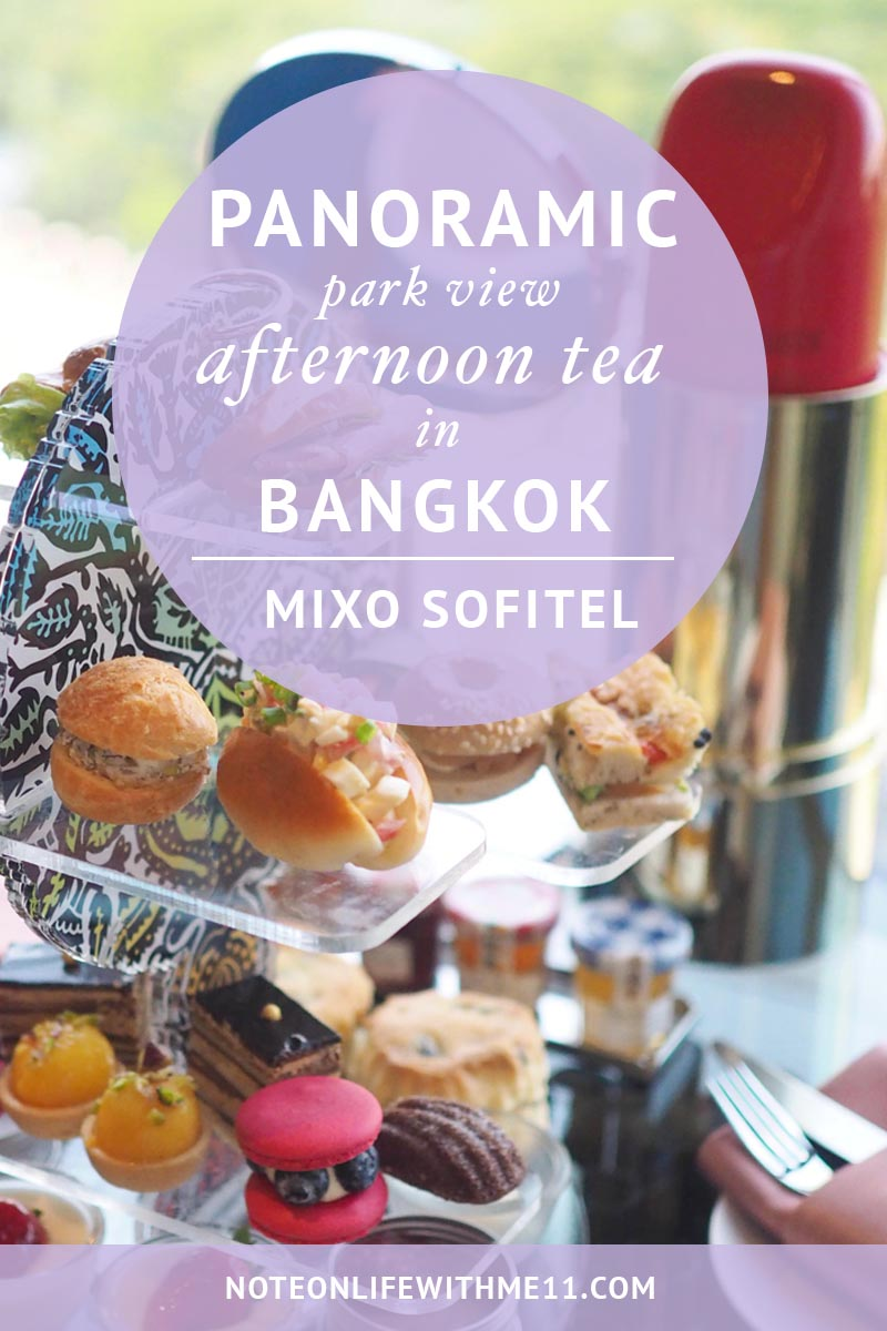MIXO Sofitel afternoon tea in Bangkok